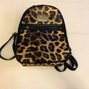 Bebe Leopard Print Mini Backpack